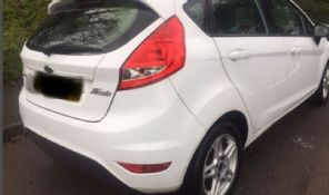 FORD FIESTA MK 8   REAR  BUMPER  COMPLETE  WHITE  2008 - 2011  USED